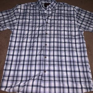 Other - Plaid architect short sleeve button down
